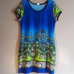Beautiful paisley print dress, sz L